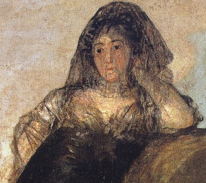 Painting portrait of Leocadia Weiss by Goya
