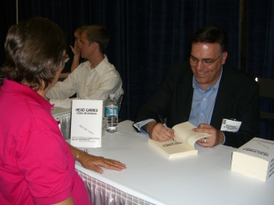 Signing ARCs at Book Expo America 2007