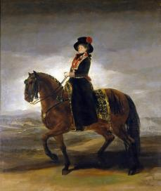 'Queen Maria Luisa On Horseback', Francisco de Goya