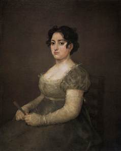 'Portrait of a Lady with Fan', Francisco de Goya